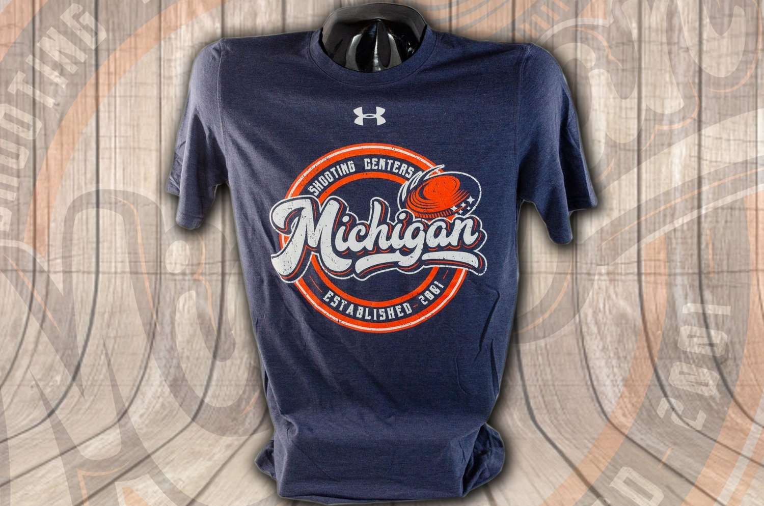 Under Armour Triblend Short Sleeve Tee with Clay Target Logo