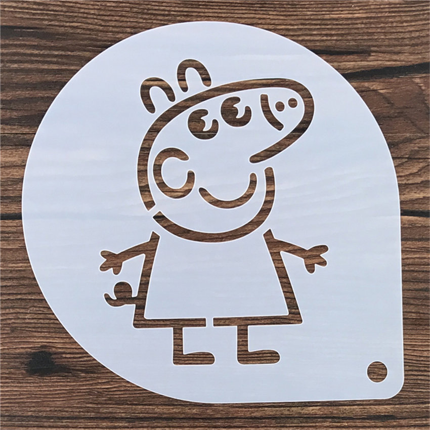 "Peppa Pig Stencil/Mold/Pattern - 9""/23cm 00012"