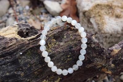 Bracelet en pierre de lune blanche