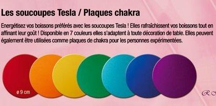 Set de 7 plaques Tesla chakras- rondes