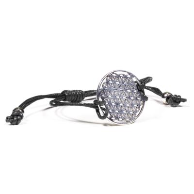 Bracelet fleur de vie noir