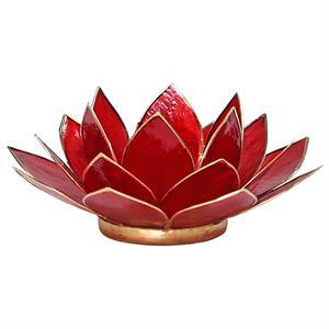 Bougeoir lotus rouge