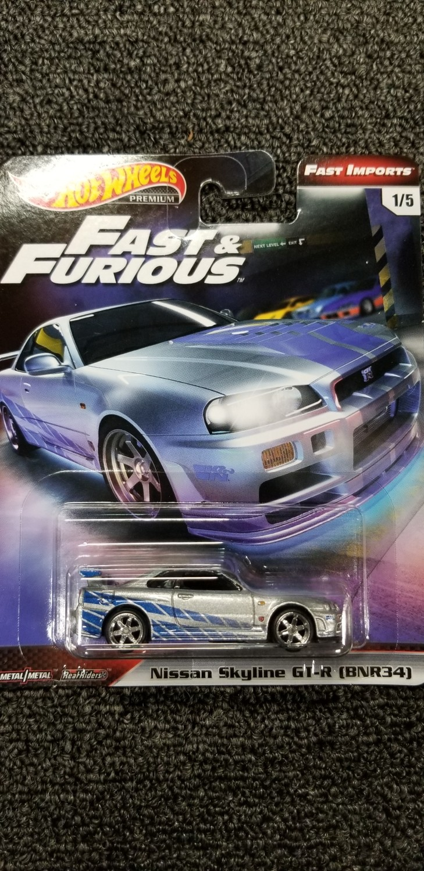 Hot Wheels - Fast & Furious - Nissan Skyline GT-R (BNR34)