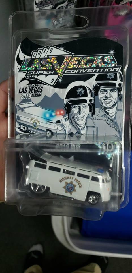 2019 VegasToyCon Souvenir CHiPs Drag Bus