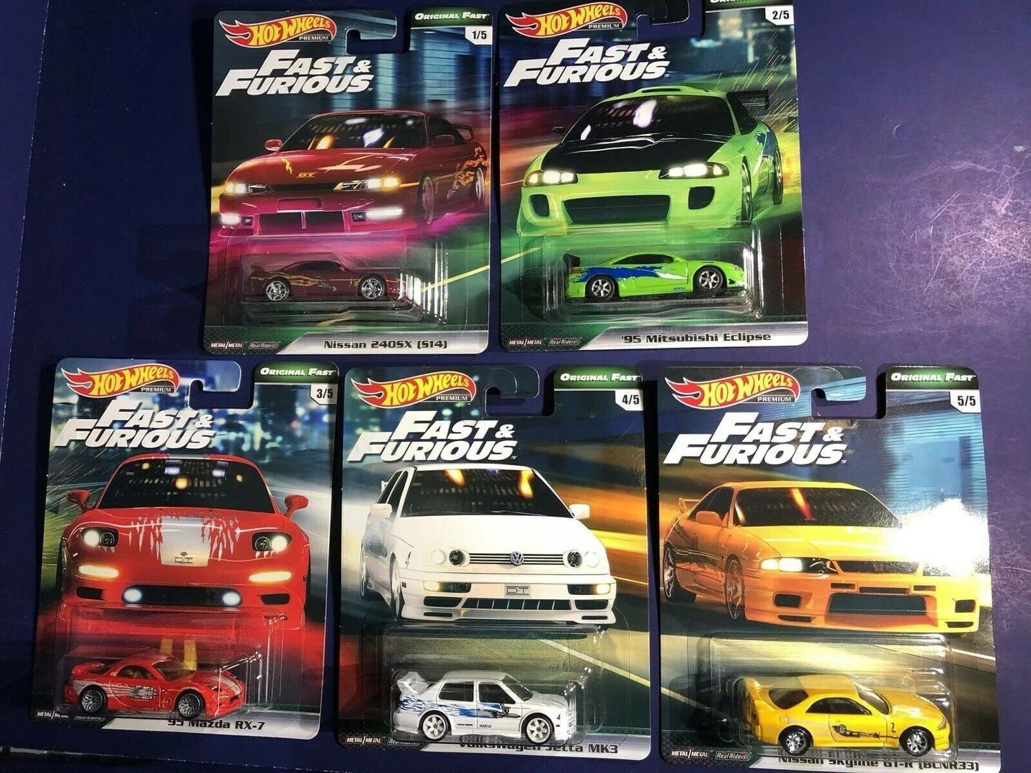 10 Car Sealed Case Fast and Furious Series 2