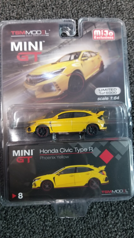 TSM Model - Mini GT - Honda Civic Type R - Phoenix Yellow