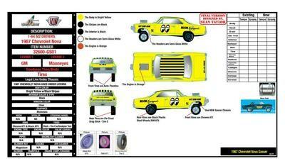 "M2 Machines 1:64 scale 1967 Chevrolet Nova Gasser/Mooneyes Release 1 – ""HOBBY EXCLUSIVE PRE ORDER"