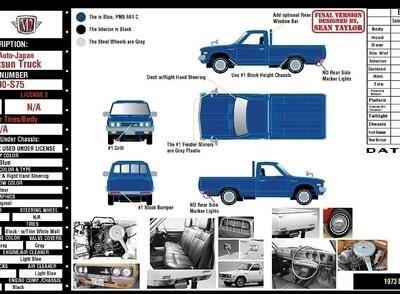 M2 Datsun Trucks Inner Case of 6 Pre Order