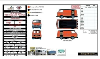 1967 Dodge A100 Panel Van Hobby Exclusive Pre Order
