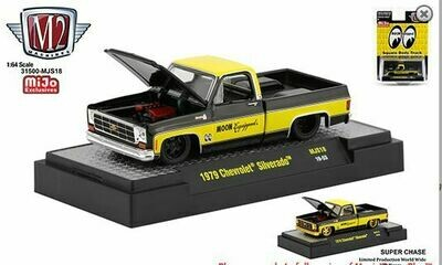 M2 1979 Chevrolet Silverado Pickup (Yellow/Black) - Moon Equipment / Mooneyes