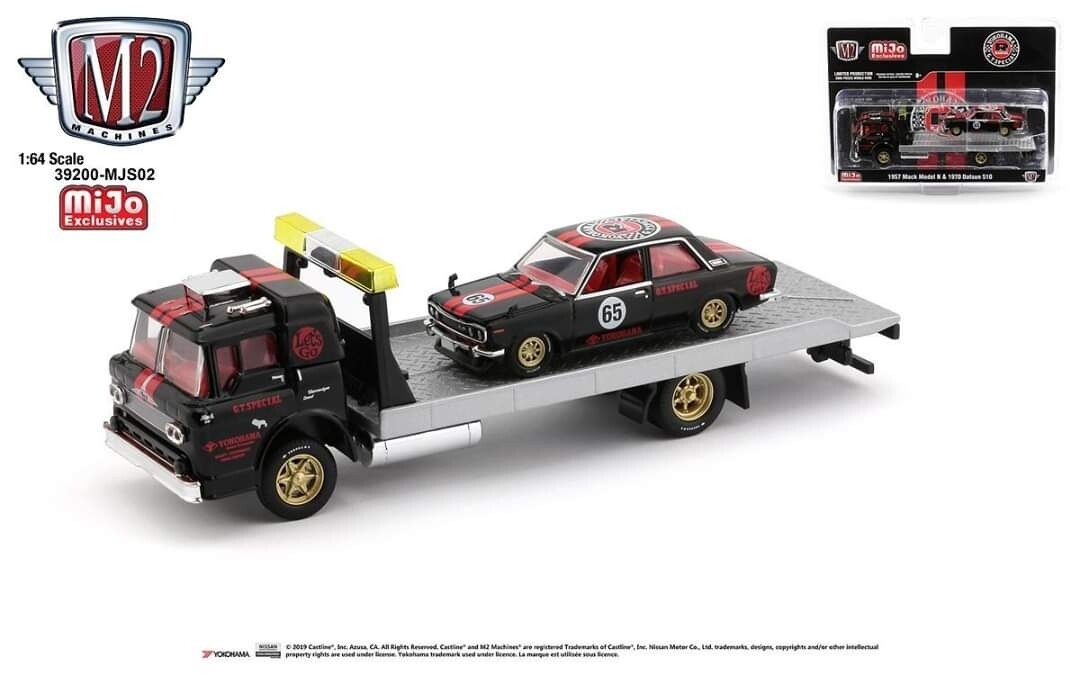Datsun 510 And Flatbed Truck Set