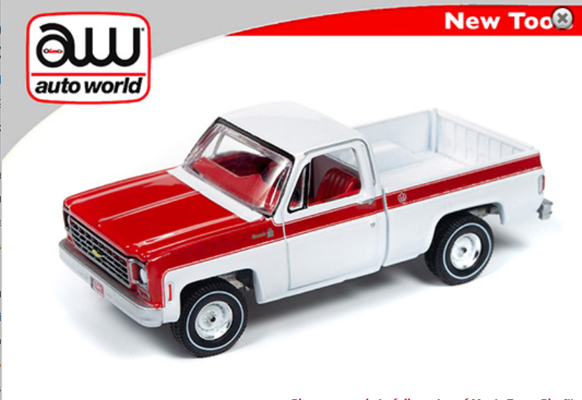 "Auto World 1:64 Premium 1976 Chevy Scottsdale Pickup Truck "" Olympic Edition"
