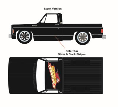 Weekend of Wheels Chevy Cheyenne Flat Black Plain Truck