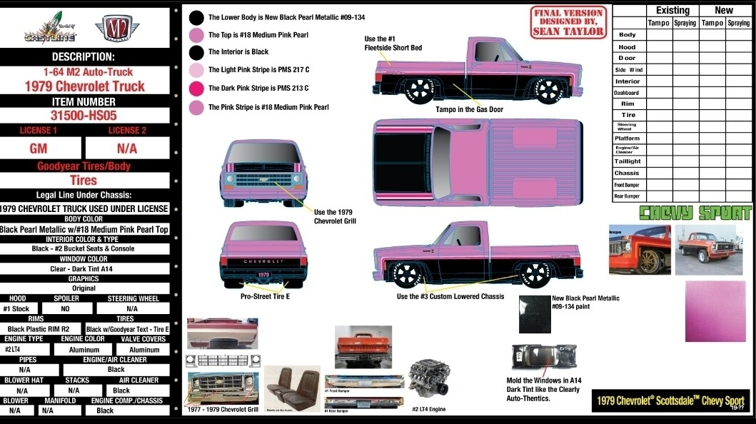 M2 1979 Scottsdale Chevy Truck Hobby Exclusive Pre Order