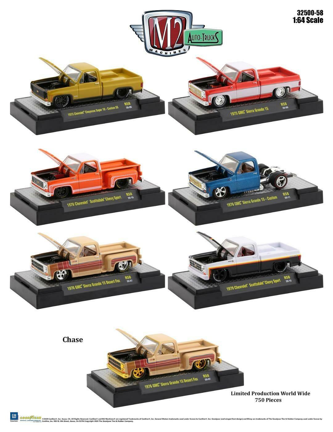 Square Body Trucks Release - Auto-Trucks 1:64 scale - Release 32500- 58