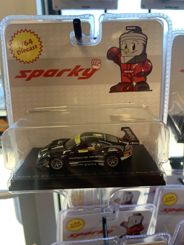 Sparky 1/64 Porsche 911 Gt3 Black