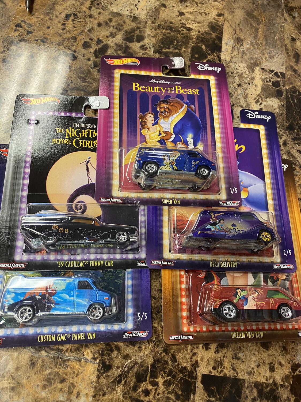 Hot Wheels Disney Set Of 5