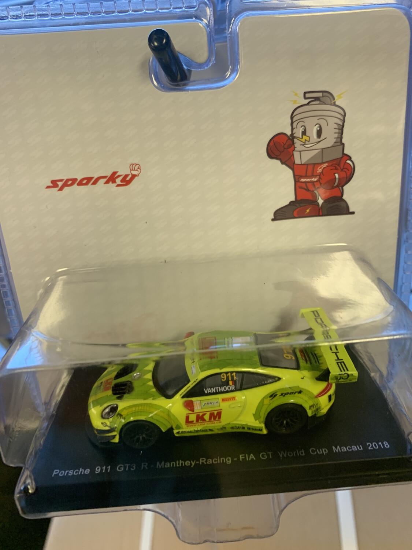 Sparky 1/64 Scale Porsche 911  Gt3 Neon Yellow