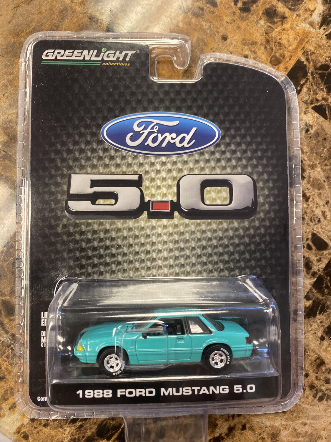 Greenlight-1988 Ford Mustang 5.0: Teal