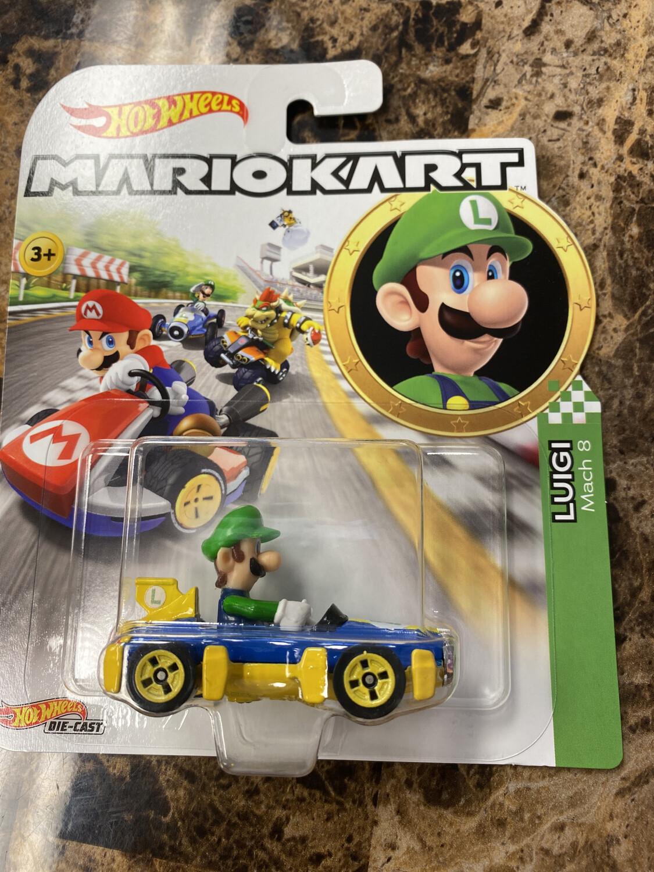 Hot Wheels-Mario Kart Luigi
