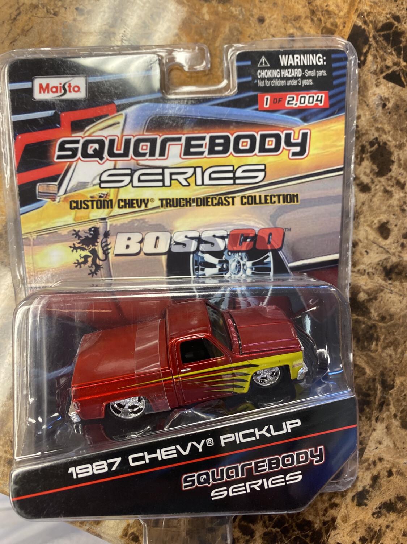 Maisto- Squarebody Series 1987 Chevy Pickup (red)