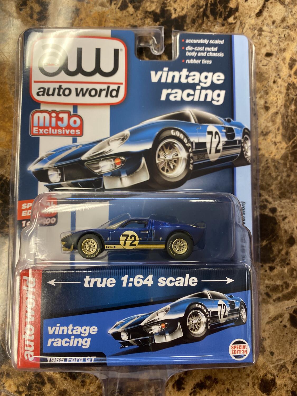 Auto World-1965 Ford GT Dirty Version Dark Blue