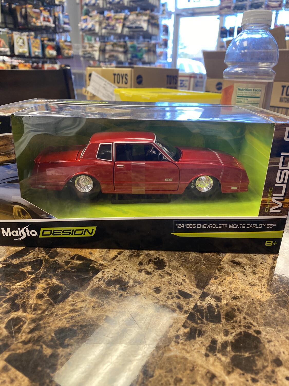 Maisto-1/24 Scale 1986 Chevrolet Monte Carlo SS ; Red