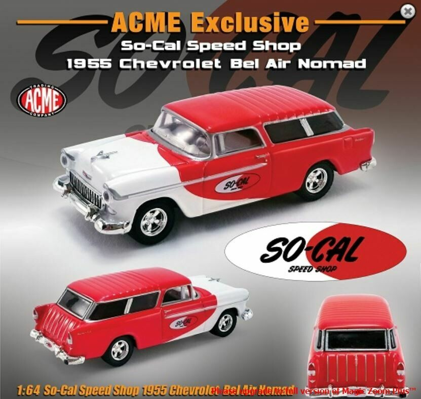 Greenlight 1:64 ACME Exclusive 1955 Chevy Nomad So-Cal Speed Shop Limited Edition