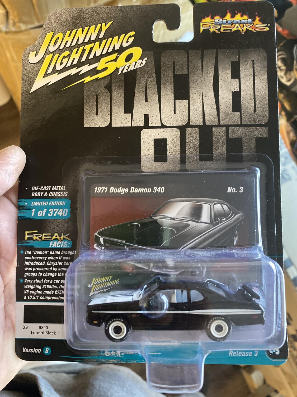 Johnny Lightning-Blacked Out 1971 Dodge Demon