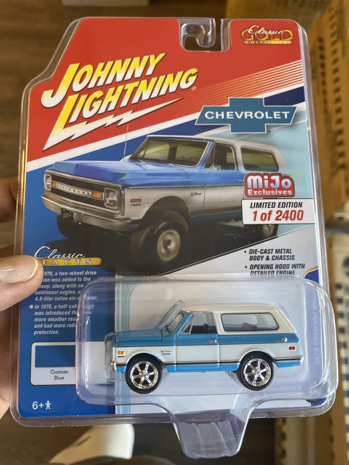 Johnny Lightning-1970 Chevrolet Blazer - Blue