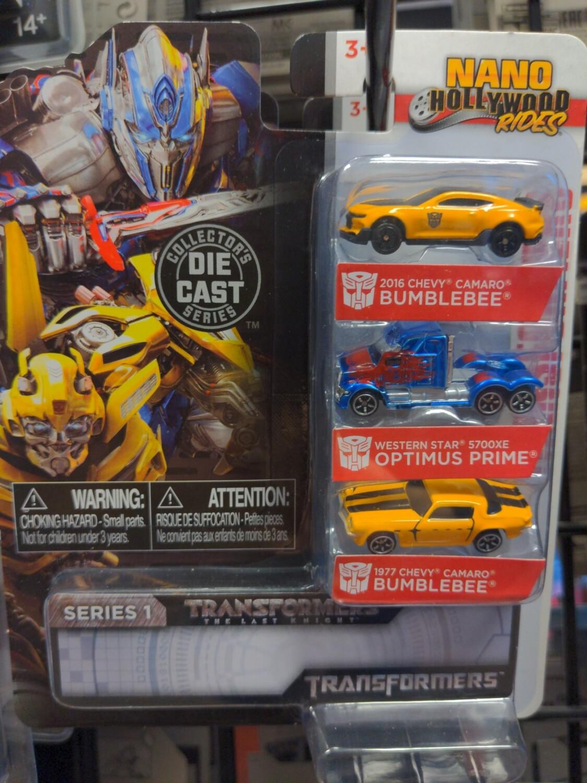 Jada - Nano Hollywood Rides - Transformers - Bumblebee (2016) / Optimus Prime / Bumblebee (1977)