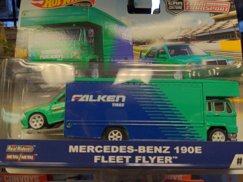 Hot Wheels - Team Transport - Mercedes Benz 190 Fleet Flyer
