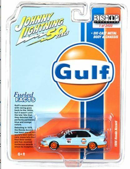 Johnny Lightning 1:64 Bishop Exclusive 1996 Honda Accord Gulf Livery Limited 2,400 pcs