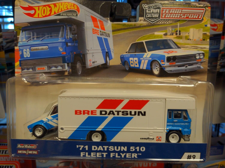 Hot Wheels - Team Transport - 71 Datsun 510 Fleet Flyer