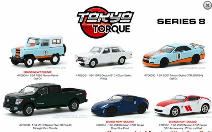 Greenlight 1:64 Tokyo Torque Series 8 Assortment (6 Styles)