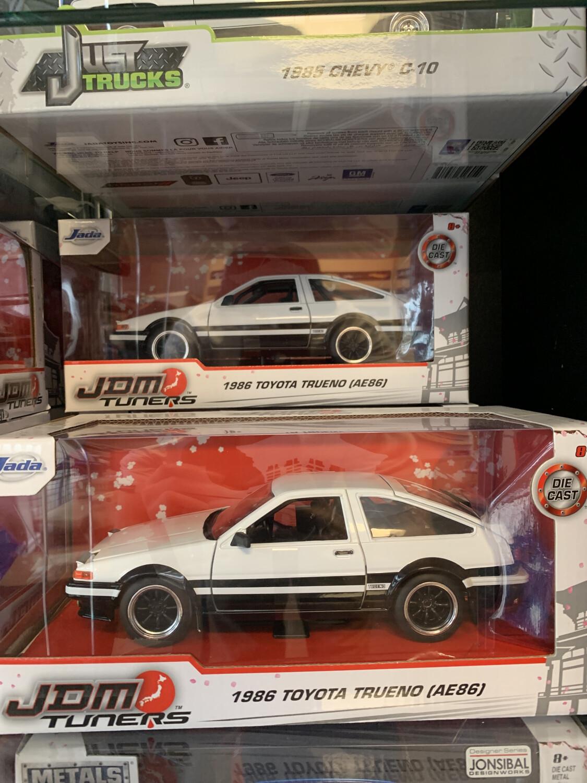 1/24 Scale Jada Jdm Tuners 1986 Toyota Trueno Ae86