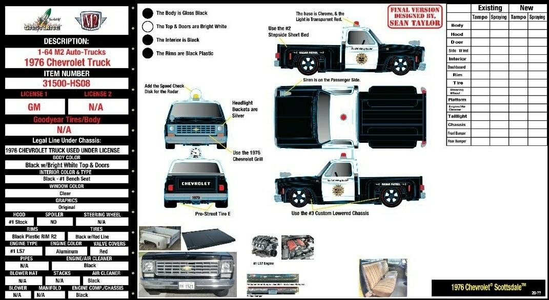 M2 1979 Chevrolet ScottsdalePolice Deco