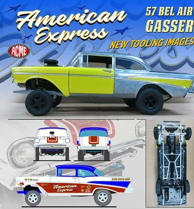 ACME 57 Chevy GASSER 1/18 Presale