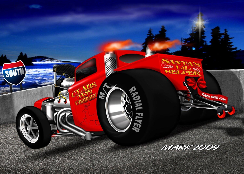 Christmas Gasser Set 5 Car Set 1 of 30