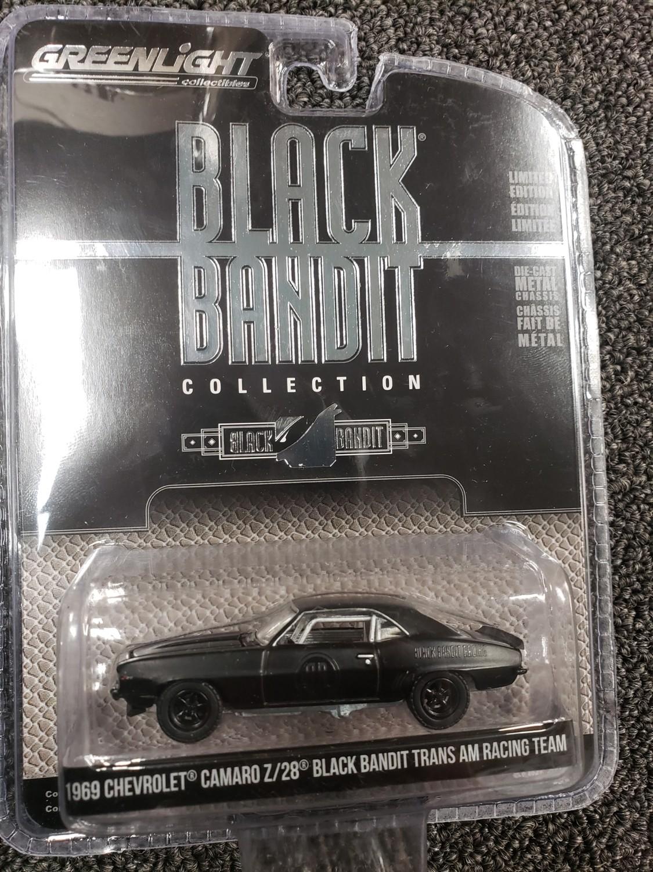 Greenlight Black bandit- 1969 Chevrolet Camaro Z/28 Black Bandit Trans Am Racing Team