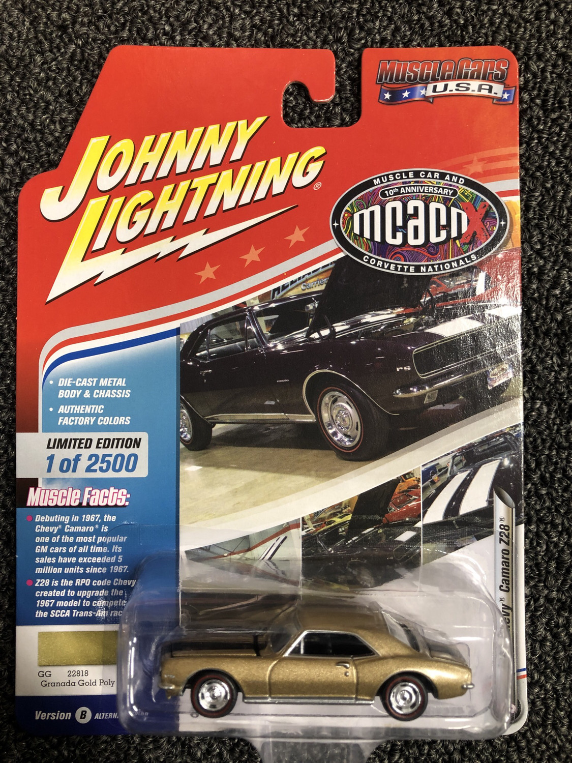 Johnny Lighting-MCACN-1967 Chevy Camaro Z28