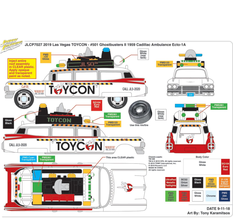 2019 Las Vegas ToyCon Ecto-1 Buy One Get One Free