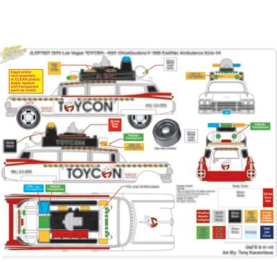2019 Las Vegas ToyCon Ecto-1 Sealed Case of 48 Guaranteed White Lighting