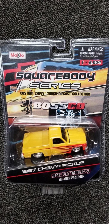Maisto - Squarebody Series - 1987 Chevy Pickup (Yellow)