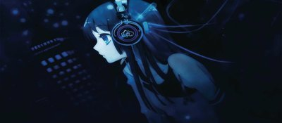 Anime blue girl gaming mouse pad