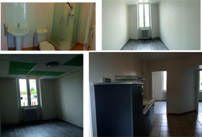Hébergement 6 jours studio chambre et salle d'eau individuelles, cuisine commune équipée.