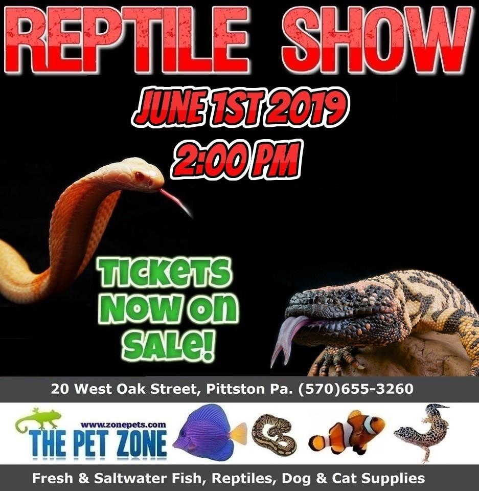 Reptile Show June 1st 2019