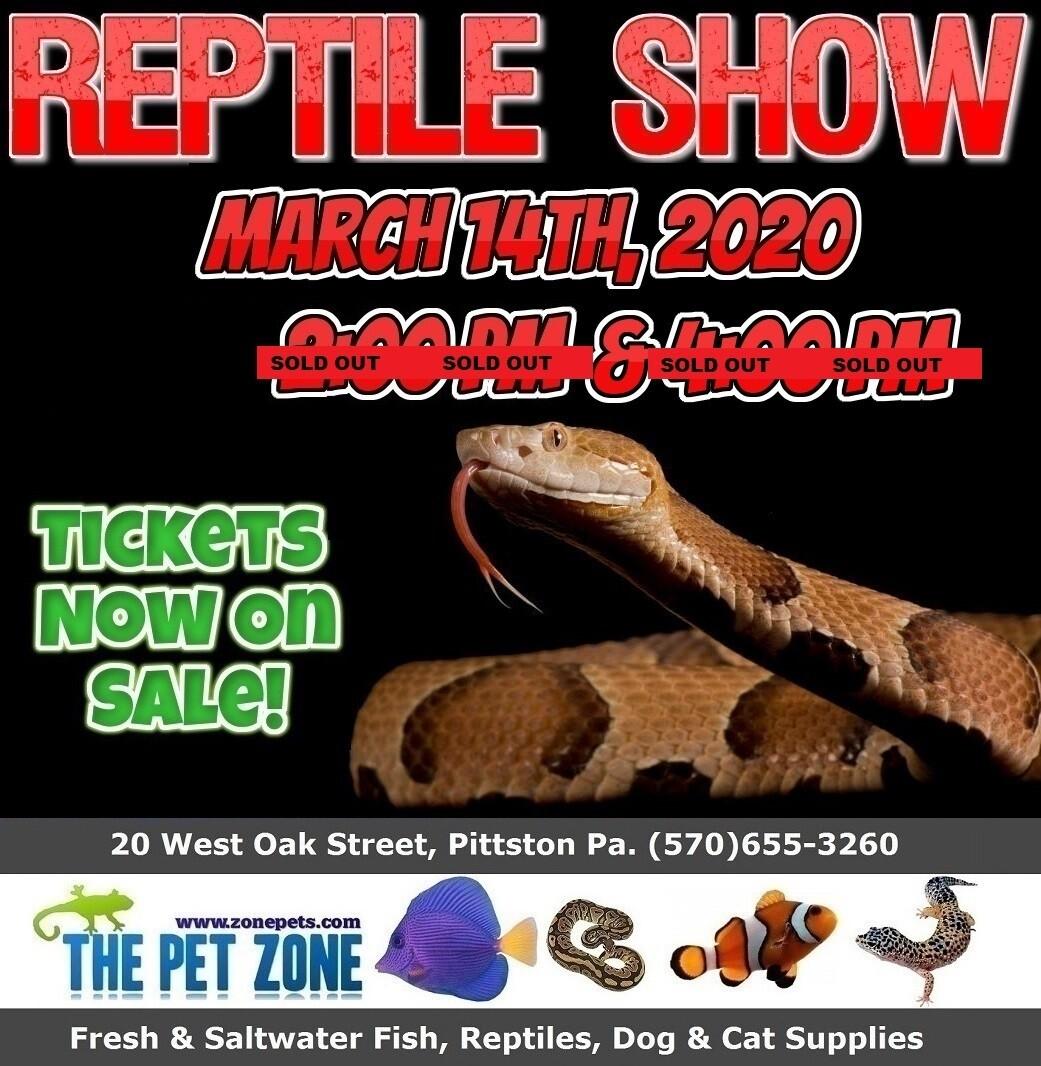 Reptile Show March 14th, 2020 2:00pm