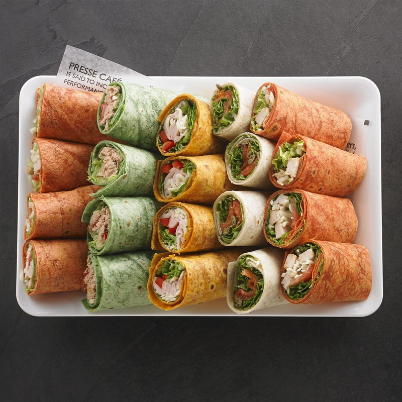 An assortment of wraps for 8 people / Price per person