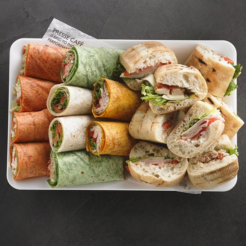 An assortment of Presswiches and wraps for 8 people / Price per person